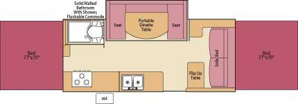 Floorplan - 2007 Fleetwood RV Highlander Avalon