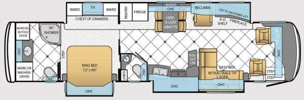 Floorplan - 2014 Newmar Dutch Star 4018