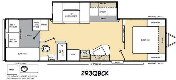 Floorplan - 2014 Coachmen RV Catalina 293QBCK