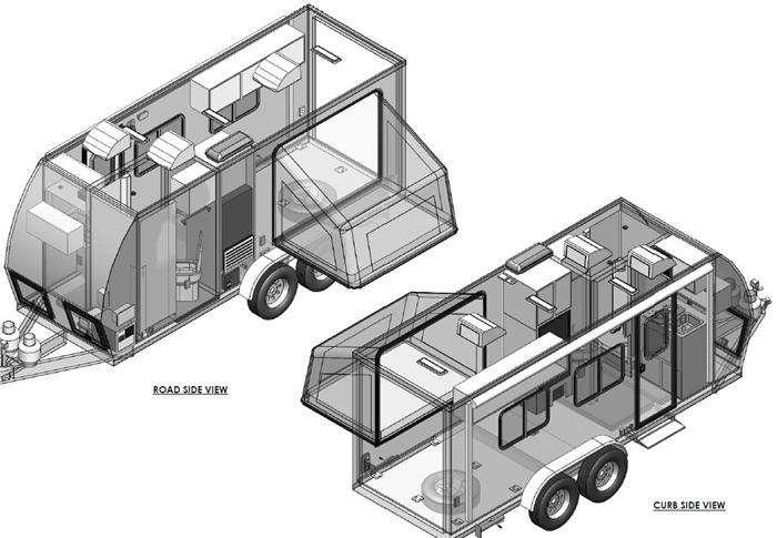 Floorplan - 2013 VRV Xtr 618 Toy Hauler Travel Trailer