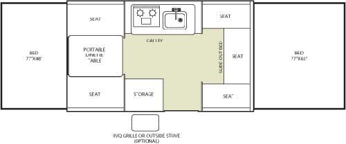 Floorplan - 2007 Fleetwood RV Destiny SeaPine