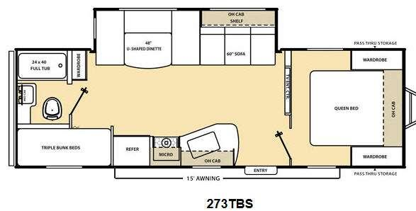 Floorplan - 2014 Coachmen RV Catalina 273TBS