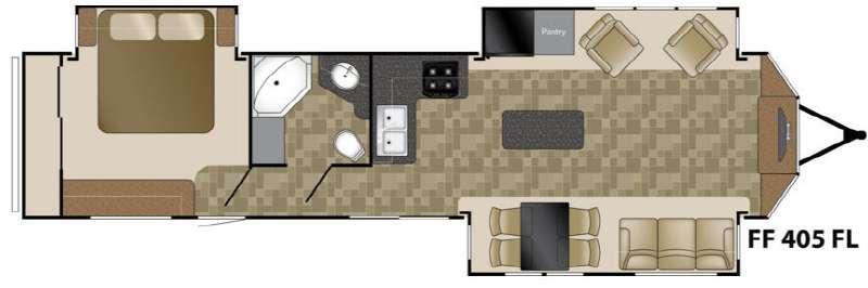 Floorplan - 2014 Heartland Fairfield 405FL