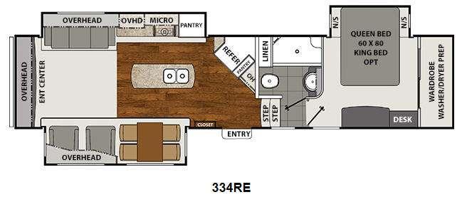 Floorplan - 2014 Coachmen RV Brookstone 334RE