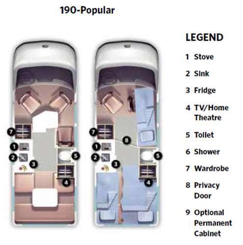 Floorplan - 2014 Roadtrek 190-Popular