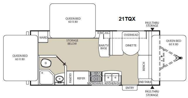 Floorplan - 2014 Coachmen RV Freedom Express 21TQX