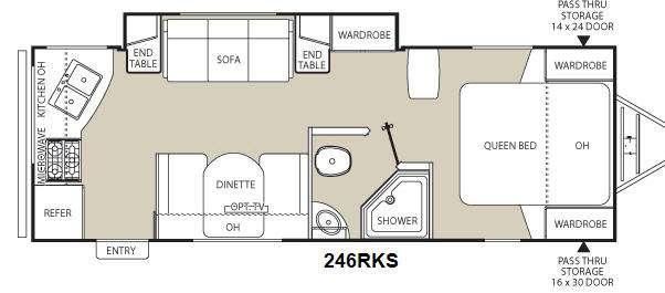 Floorplan - 2014 Coachmen RV Freedom Express 246RKS