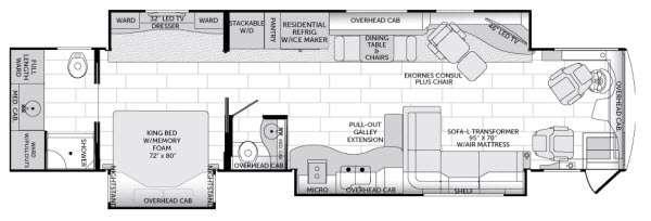 Floorplan - 2014 American Coach American Revolution 42G