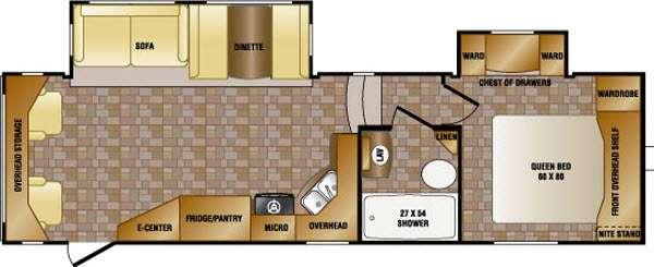 Floorplan - 2014 CrossRoads RV Sunset Trail Super Lite SF280RL
