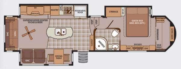 Trilogy Touring 36RL Floorplan Image