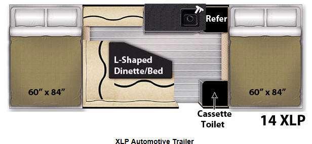 Floorplan - 2014 Livin Lite Quicksilver 14 XLP
