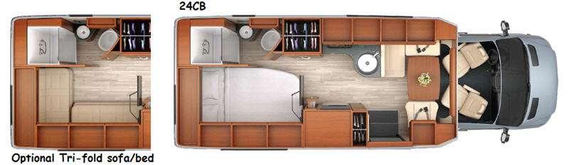 Floorplan - 2014 Leisure Travel Serenity 24CB