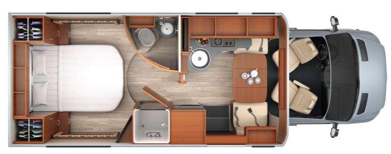 Floorplan - 2014 Leisure Travel Unity U24IB