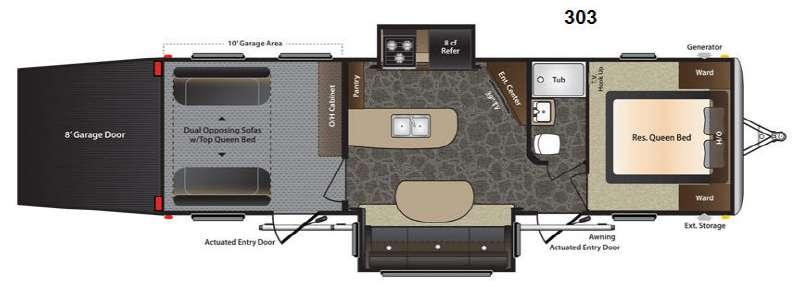 Floorplan - 2014 Keystone RV Fuzion 303