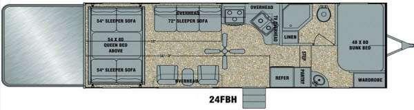 Floorplan - 2014 EverGreen RV Amped 24FBH