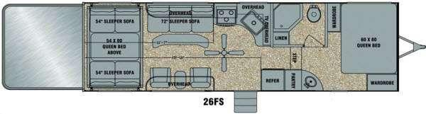 Floorplan - 2014 EverGreen RV Amped 26FS