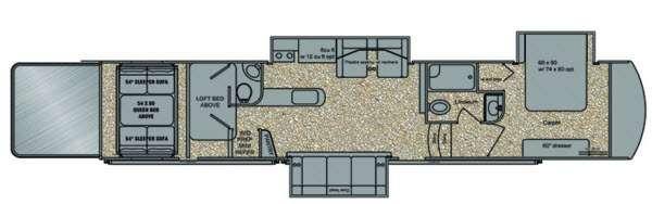 Floorplan - 2014 Tesla 3895 Toy Hauler Fifth Wheel