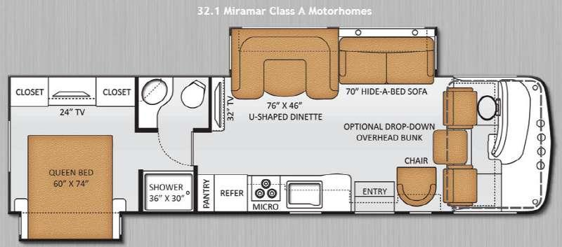 Floorplan - 2014 Thor Motor Coach Miramar 32 1
