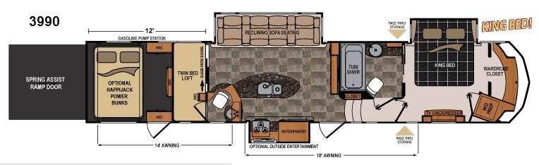 Floorplan - 2014 Dutchmen RV Voltage V3990