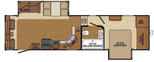 Floorplan - 2014 Augusta RV Flex AF 32RL