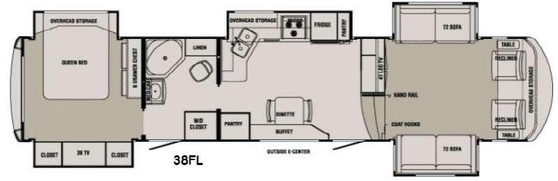 Floorplan - 2014 Redwood RV Redwood 38FL