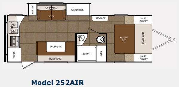 Floorplan - 2014 Prime Time Manufacturing Tracer 252AIR