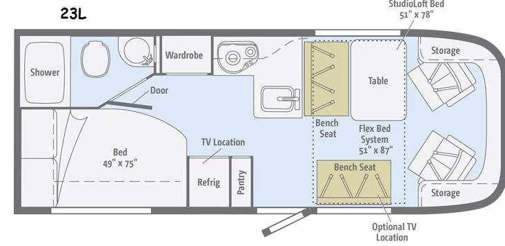 Floorplan - 2014 Winnebago Trend 23L