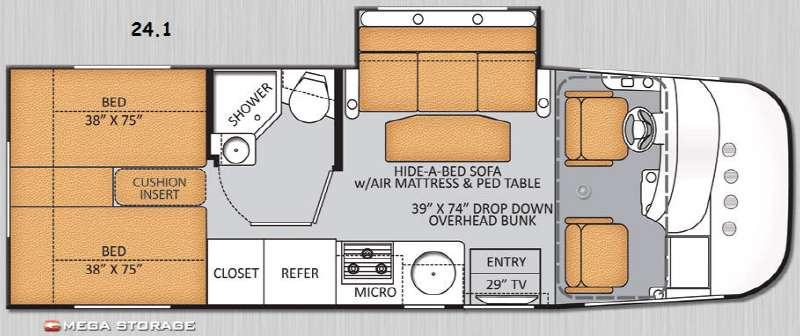 Floorplan - 2014 Thor Motor Coach Axis 24 1