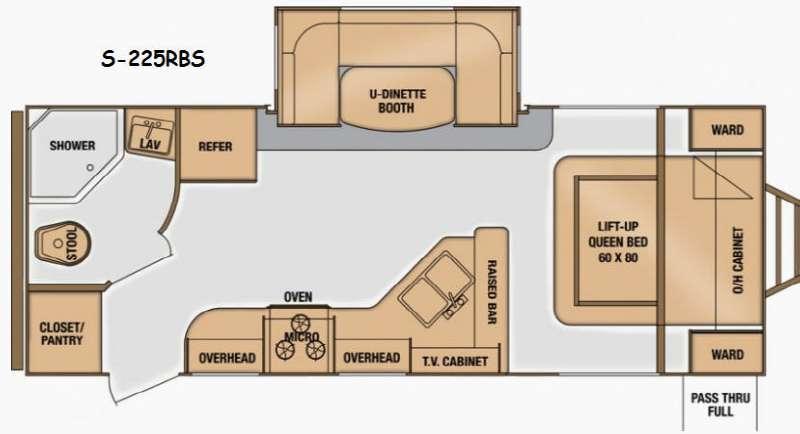 Floorplan - 2014 Cruiser Shadow S 225RBS