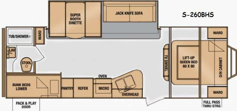 Floorplan - 2014 Cruiser Shadow S 260BHS