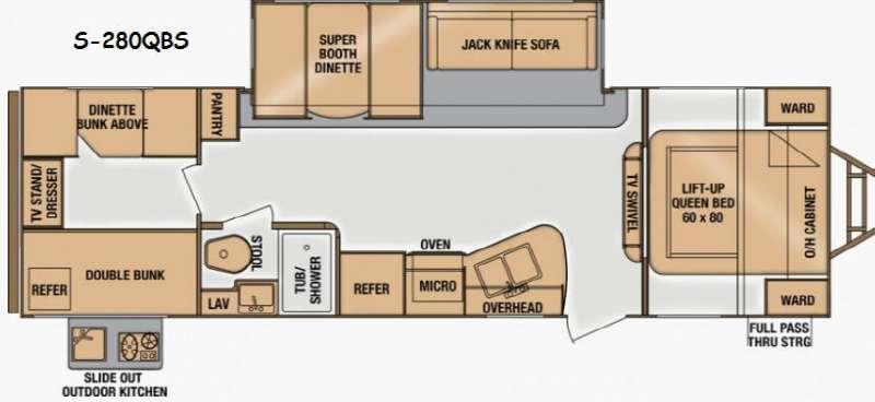 Floorplan - 2014 Cruiser Shadow S 280QBS