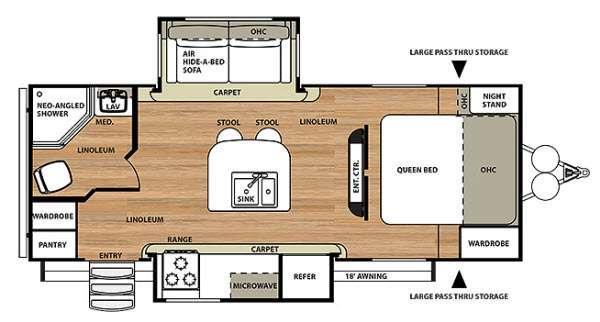Floorplan - 2014 Forest River RV Salem Hemisphere Lite 232IS