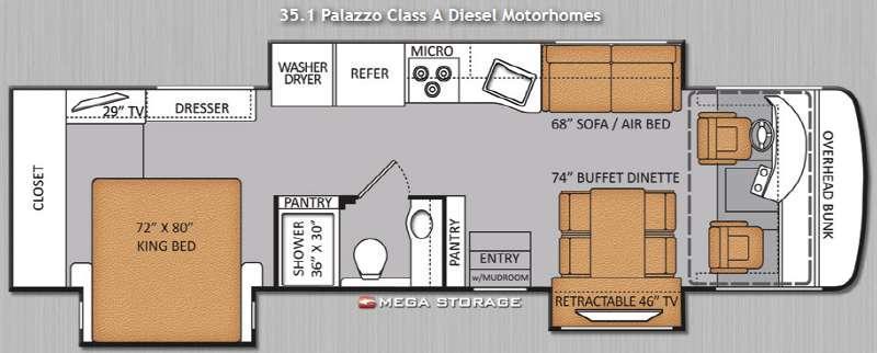 Floorplan - 2014 Palazzo 35 1 Motor Home Class A - Diesel