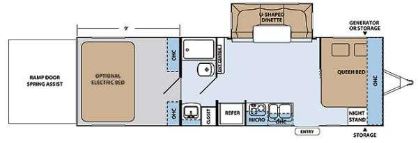 Floorplan - 2014 XLR Hyper Lite 27HFS EP Toy Hauler Travel Trailer