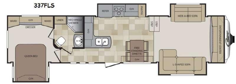 Floorplan - 2014 Keystone RV Cougar 337FLS