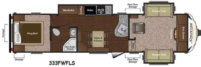 Floorplan - 2014 Keystone RV Sprinter Wide Body 333FWFLS