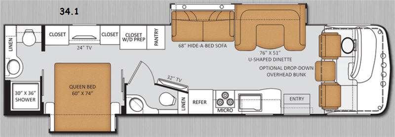 Floorplan - 2014 Thor Motor Coach Miramar 34 1