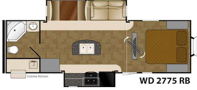 Floorplan - 2014 Heartland Wilderness 2775RB
