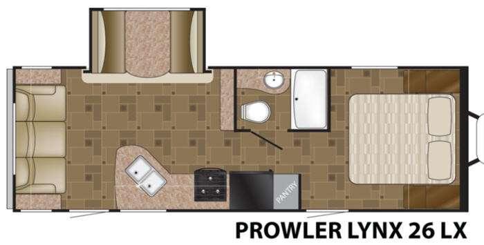Floorplan - 2014 Heartland Prowler 26 LX Lynx