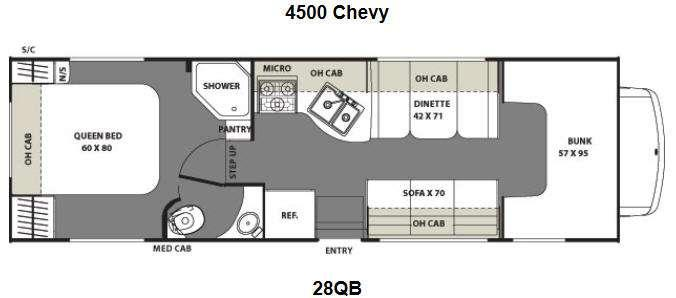 Floorplan - 2014 Coachmen RV Freelander 28QB  Chevy 4500