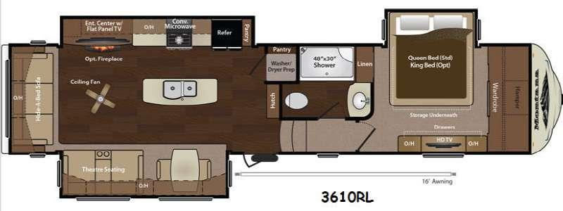 Floorplan - 2014 Keystone RV Montana 3610 RL