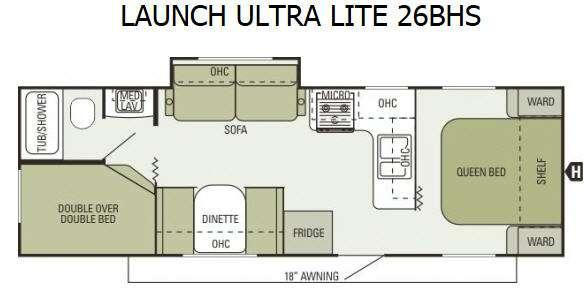 Floorplan - 2014 Starcraft  Launch Ultra Lite 26BHS