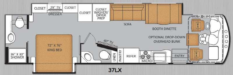 Floorplan - 2014 Thor Motor Coach Challenger 37LX