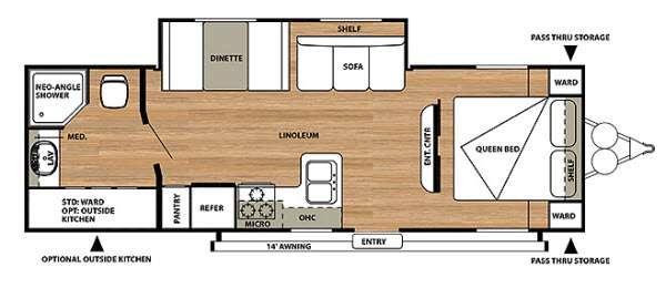Salem Cruise Lite 271RBXL Floorplan Image