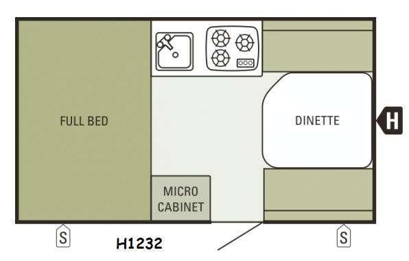 Floorplan - 2014 Starcraft Comet Hardside H1232
