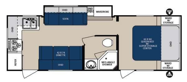 Floorplan - 2014 Forest River RV Surveyor Sport SP 264RKS