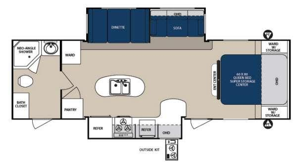 Floorplan - 2014 Forest River RV Surveyor Sport SP 285RBDS