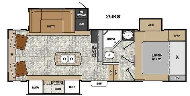 Floorplan - 2014 Coachmen RV Chaparral Lite 25IKS