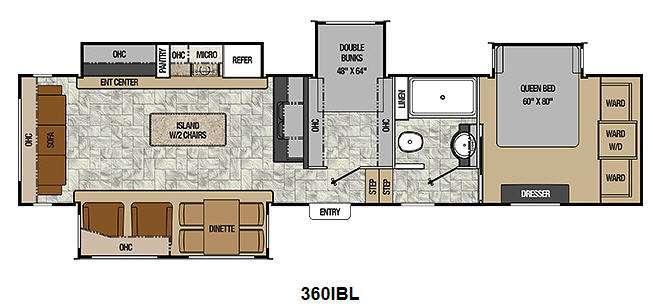 Floorplan - 2014 Coachmen RV Chaparral 360IBL
