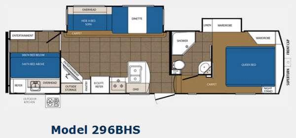 Floorplan - 2014 Prime Time Manufacturing Crusader 296BHS